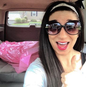 my wedding dress in the backseat!