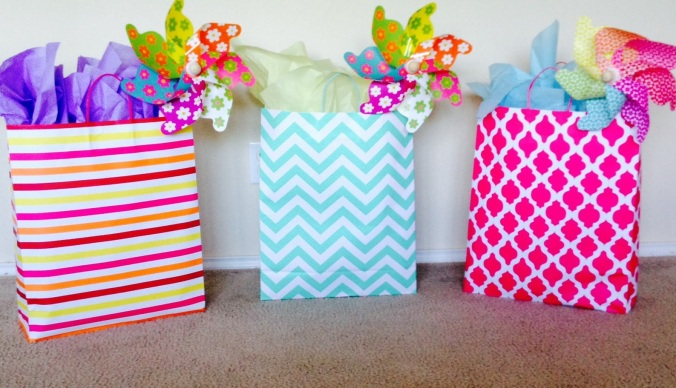 use windmills instead of bows and/or greeting cards!